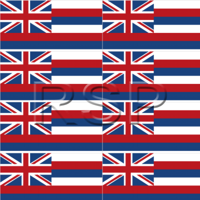 DECAL 4x4 Hawaiian Flag Set