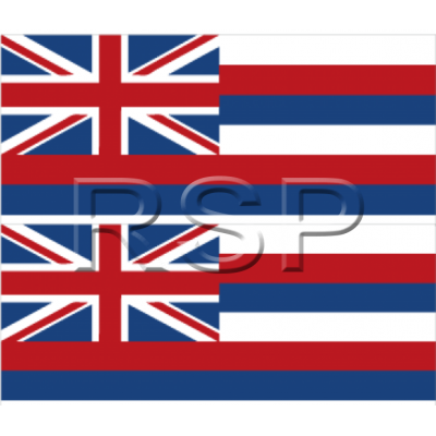 DECAL 2x2 Hawaiian Flag MINI set
