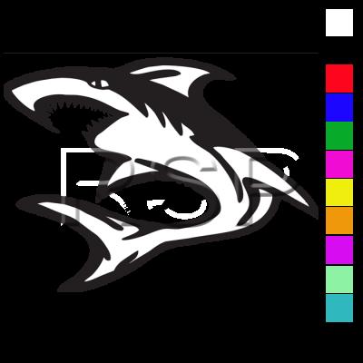 DECAL 2x2 Shark