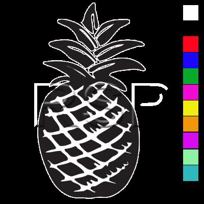 DECAL 4x4 Pineapple