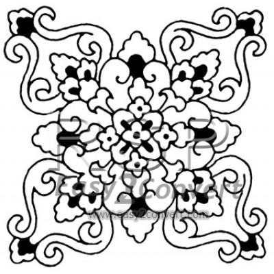 STAMP Hawaiian Quilts Chrysanthemum