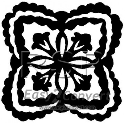 STAMP Hawaiian Quilt Large Crown Flower