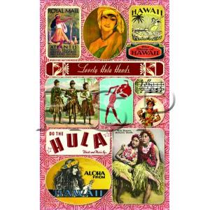 Vintage Hawaiian HULA theme STICKERS