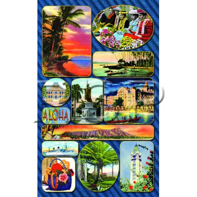 Vintage OAHU Icons STICKERS