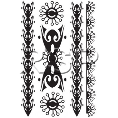 TT Tahitian Sun Temporary Tattoos