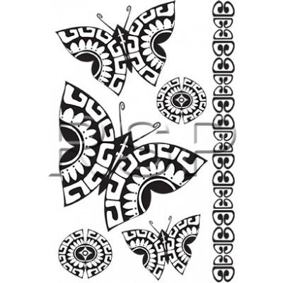 TT Tahitian Butterfly Temporary Tattoos