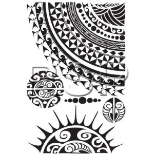 TT Tribal Sun shoulder tattoo